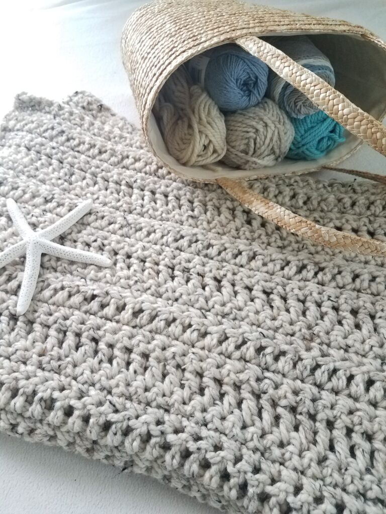 Sand Dunes Crochet Lapghan by Kind Of Knit using DC stitches