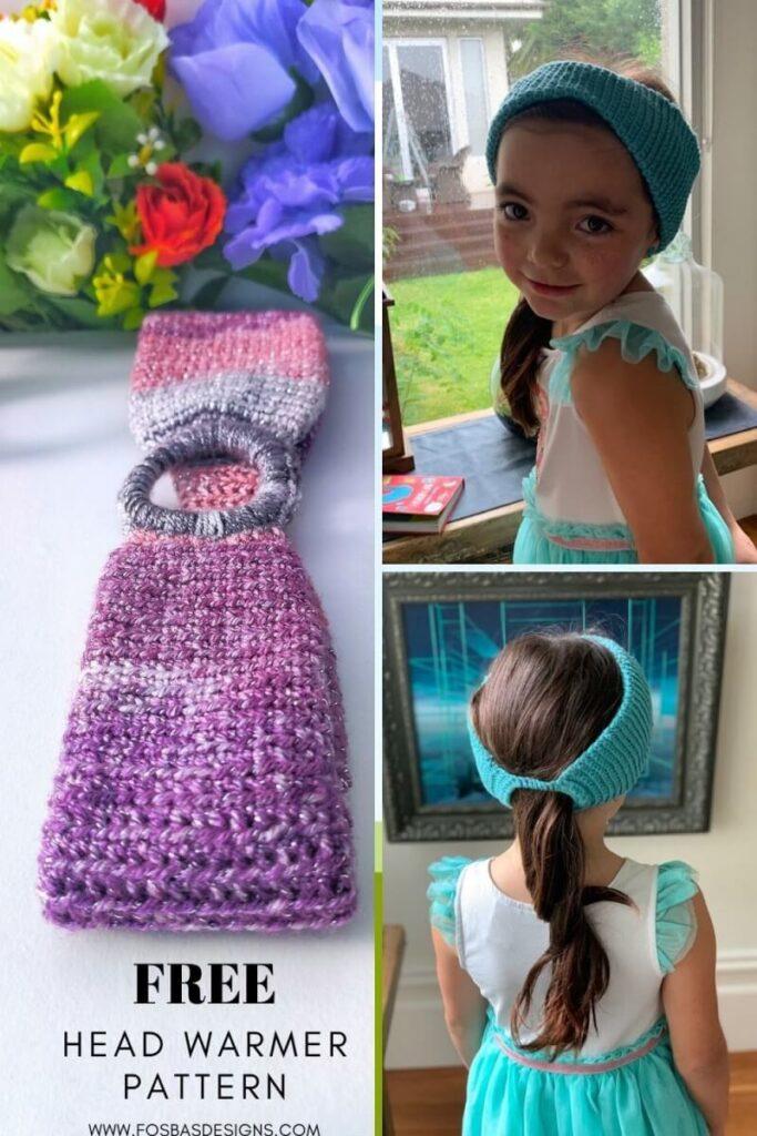 Ear Warmer crochet design by FosbasDesigns.com