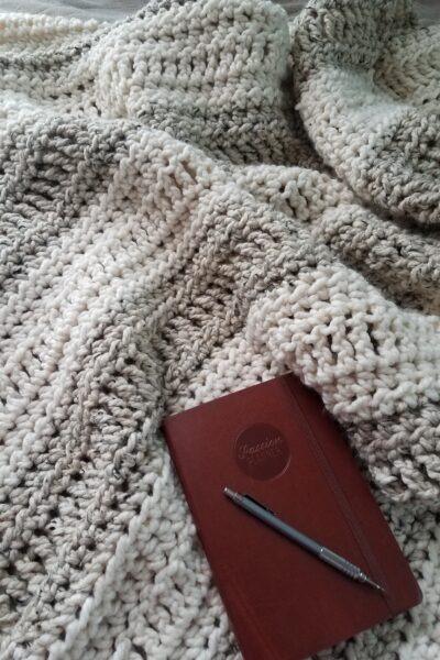 Oregon Chunky Easy Crochet Afghan design by KindOfKnit