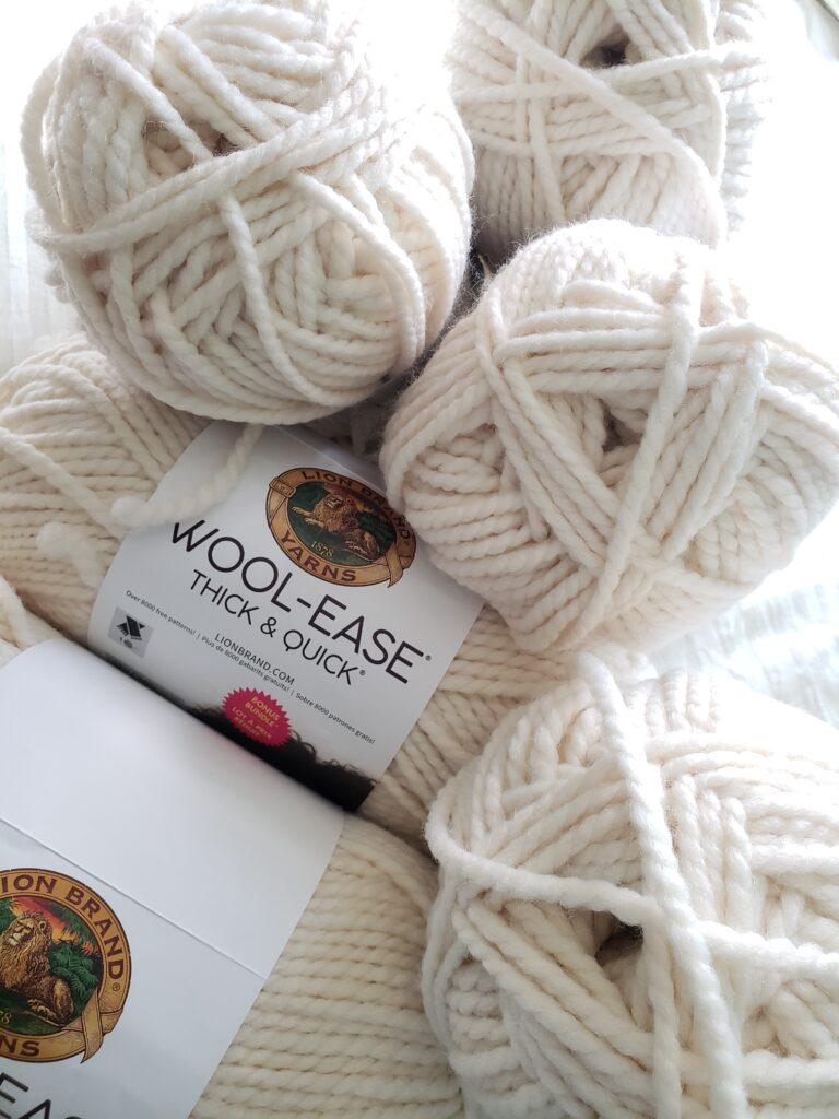 Chunky yarn to make a blanket