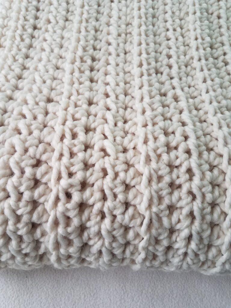 White Water Blanket Crochet Pattern by Kind Of Knit