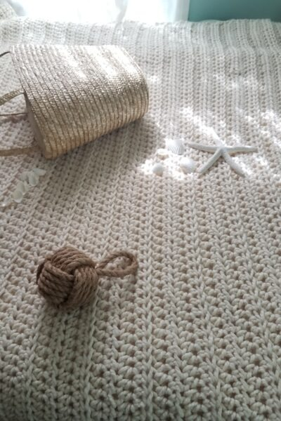 White Water Crochet Throw