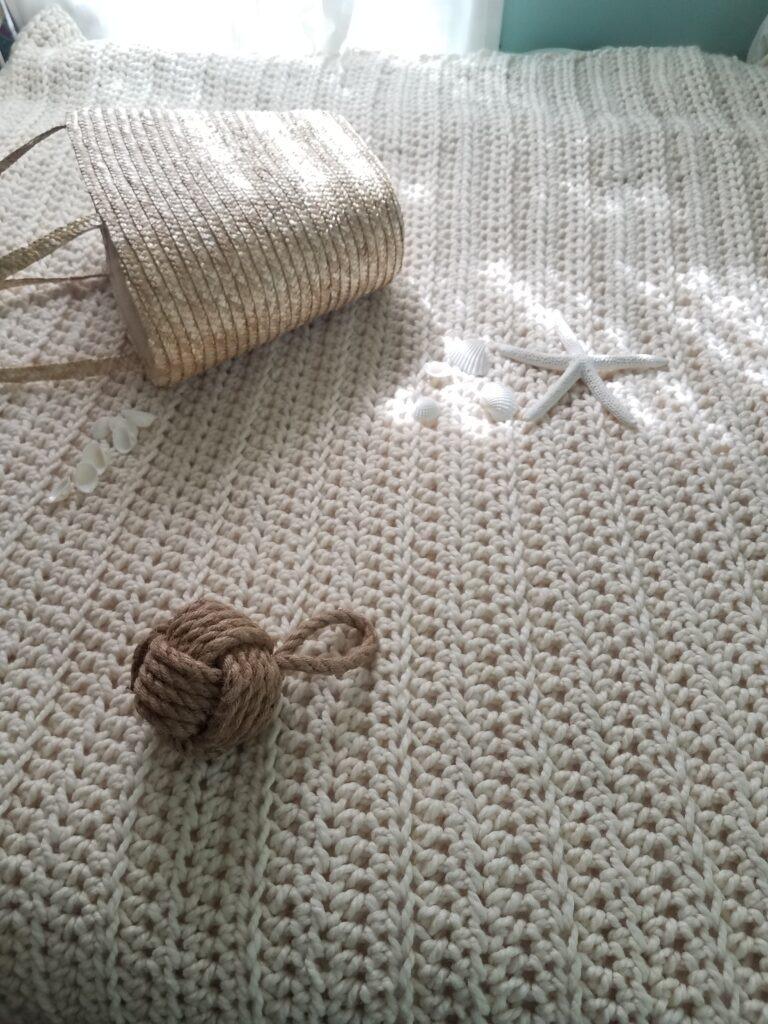 White Water Crochet Throw