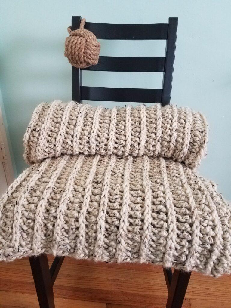 Puget Sound Chunky Crochet Blanket Pattern - by Kind Of Knit