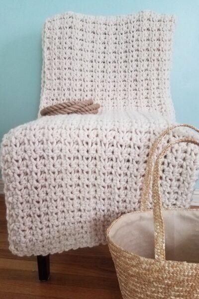 Seaside Daisy Crochet Throw by KindOfKnit