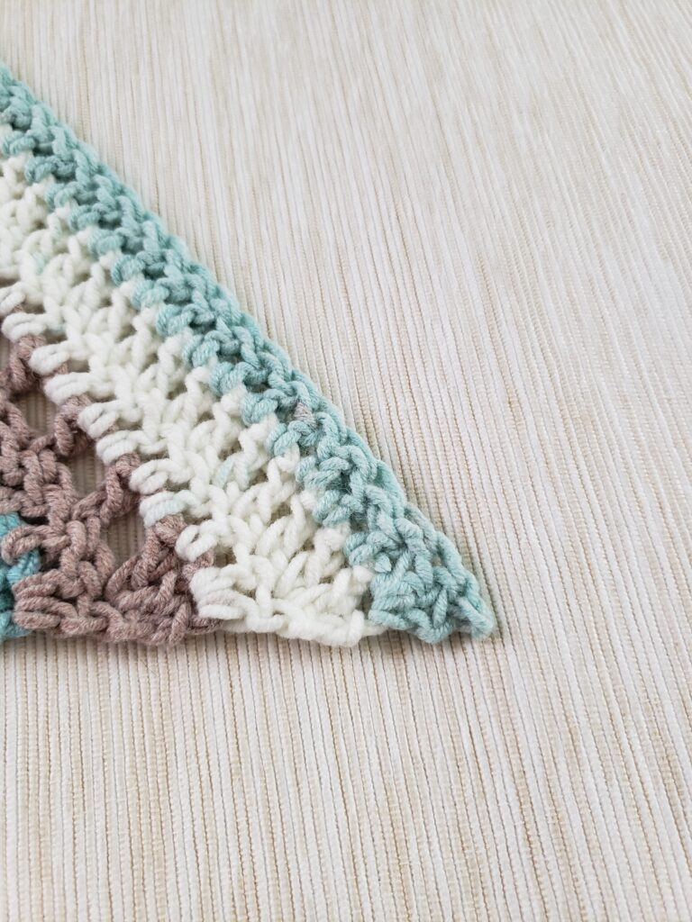 How to weave in the ends on a corner of the project